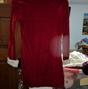 Basic Editions Dresses - Girls size 10/12 burgundy holiday dress